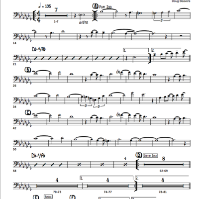 Latin jazz printed sheet music for the classroom