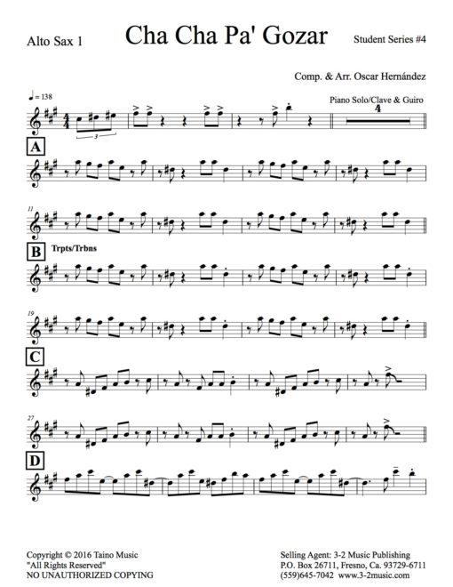 Cha Cha Pa' Gozar, Latin jazz sheet music